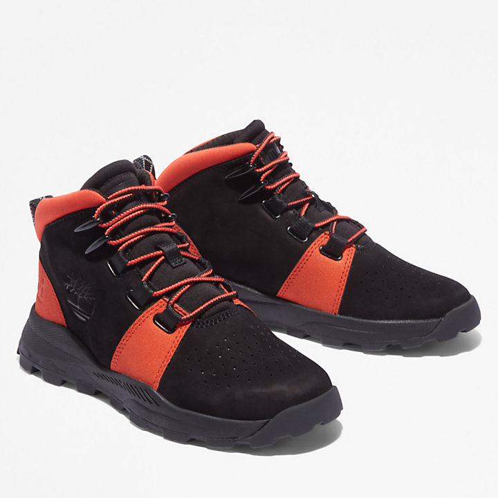 Brooklyn vetersneaker voor juniors in zwart/oranje-