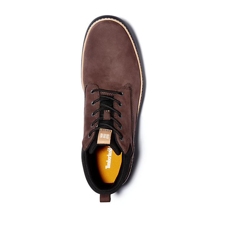 Cross Mark Plain-toe Chukka for Men in Dark Brown-