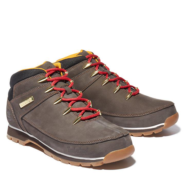 Scarpa da Hiking da Uomo Euro Sprint in nabuk marrone scuro-