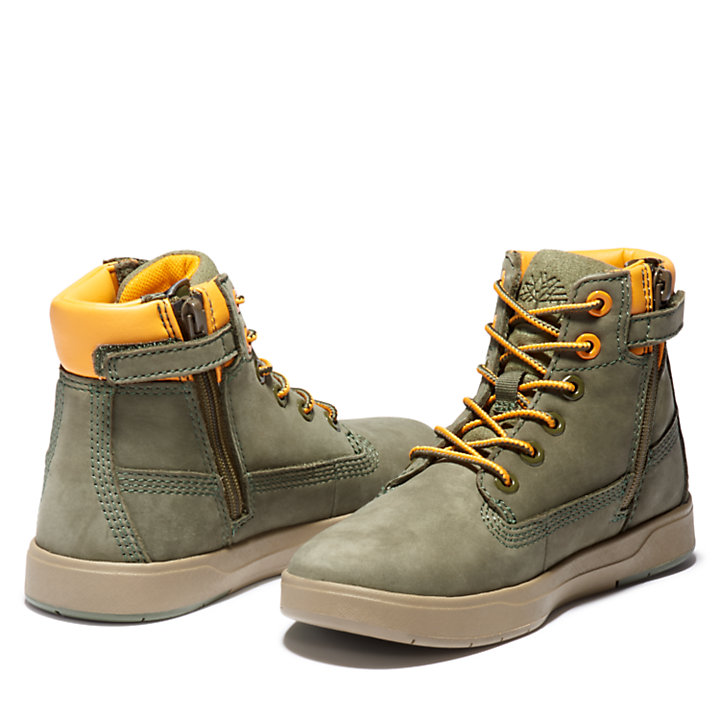 Davis Square 6 Inch Side-zip Boot for Men in Green-