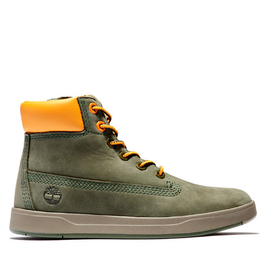 Davis Square 6 Inch Side-zip Boot for Men in Green | Timberland
