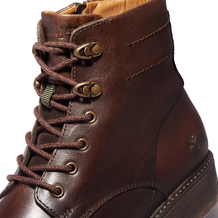 Oakrock Side-zip Boot for Men in Dark Brown-