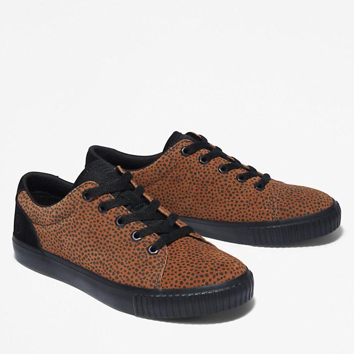 Skyla Bay Leren sneaker voor dames in dierenprint-