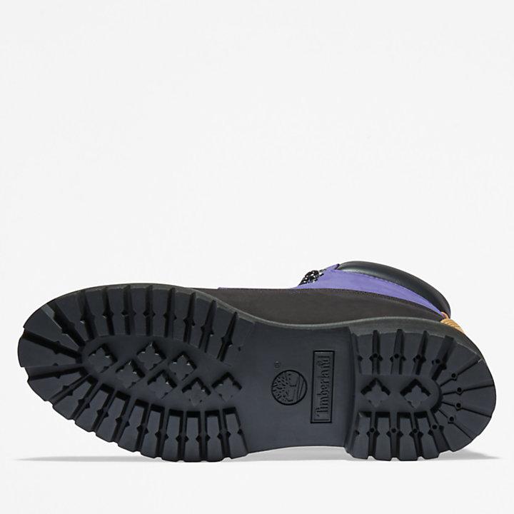 Bota 6 Inch Timberland® Premium Extra Cálida para Hombre en color negro/morado-