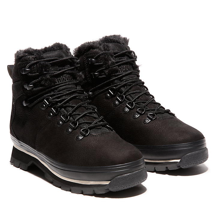 Euro Hiker Lined Boot for Women in Black-
