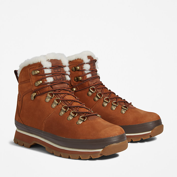 Euro Hiker Lined Boot for Women in Brown-