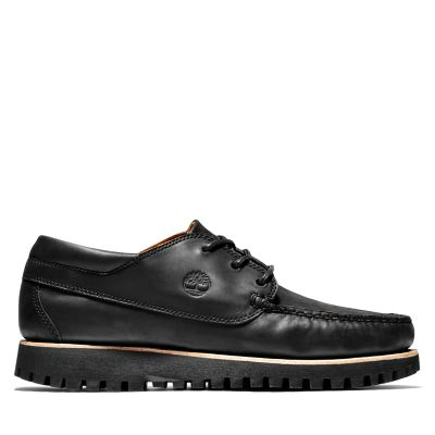 Jackson%27s+Landing+Moc-Toe+Oxford+for+Men+in+Black