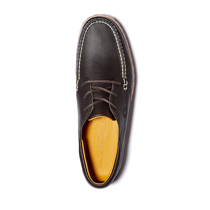 Jackson's Landing Moc-Toe Oxford for Men in Dark Brown-