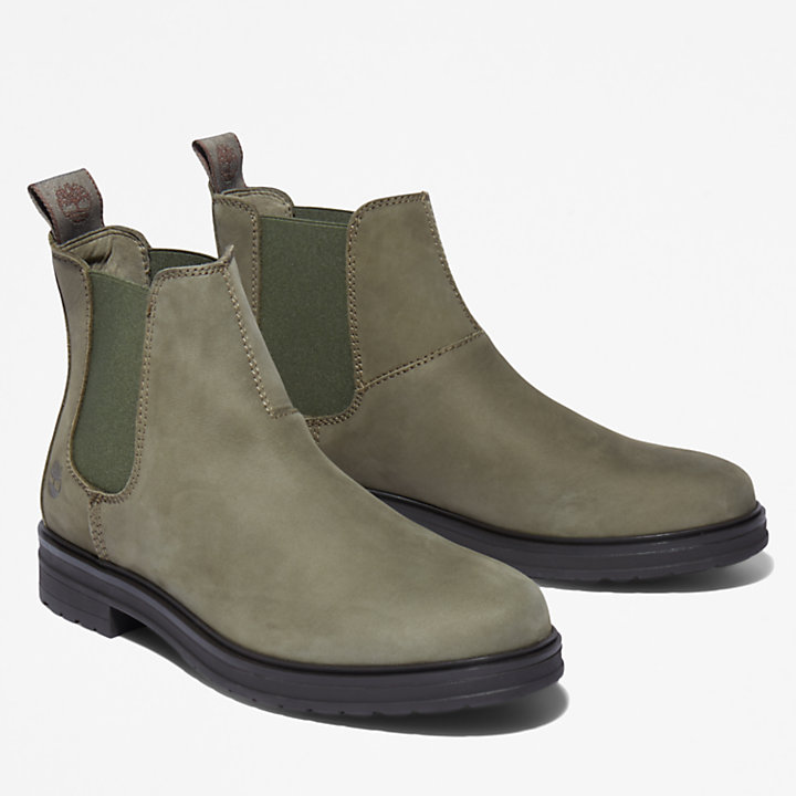 Bota Chelsea Hannover Hill para mujer verde oscuro-