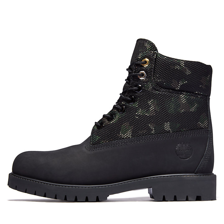 Timberland® Heritage 6 Inch Boot for Men in Black/Camo-
