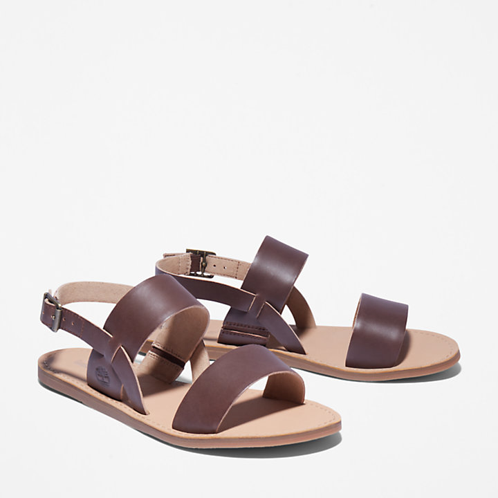 Carolista Slingback Sandal for Women in Dark Brown-