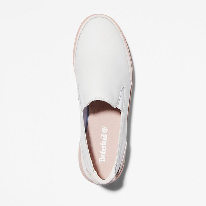 Chaussure sans lacets Atlanta Green pour femme en blanc/rose-