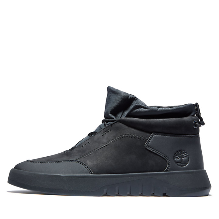 Supaway Leather Chukka for Men in Black-