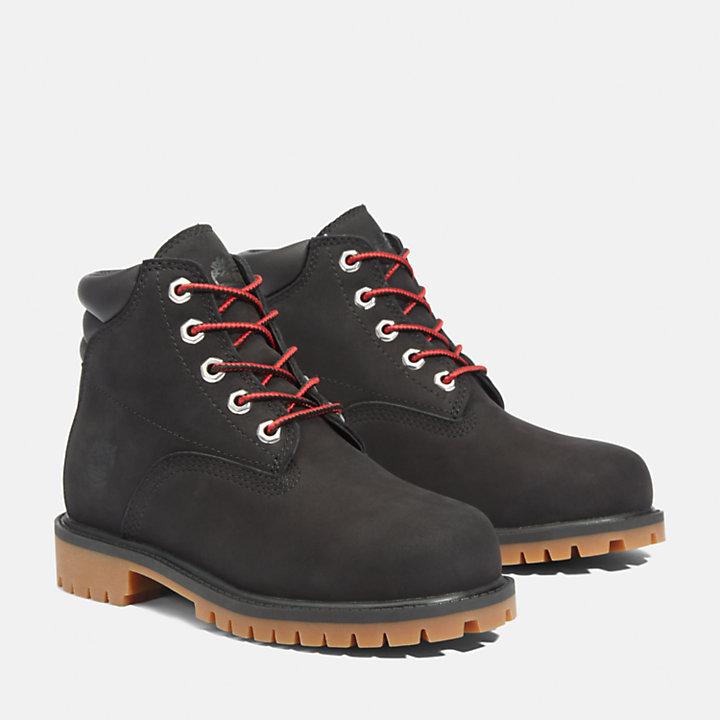 6-Inch Boot Alburn junior en noir-