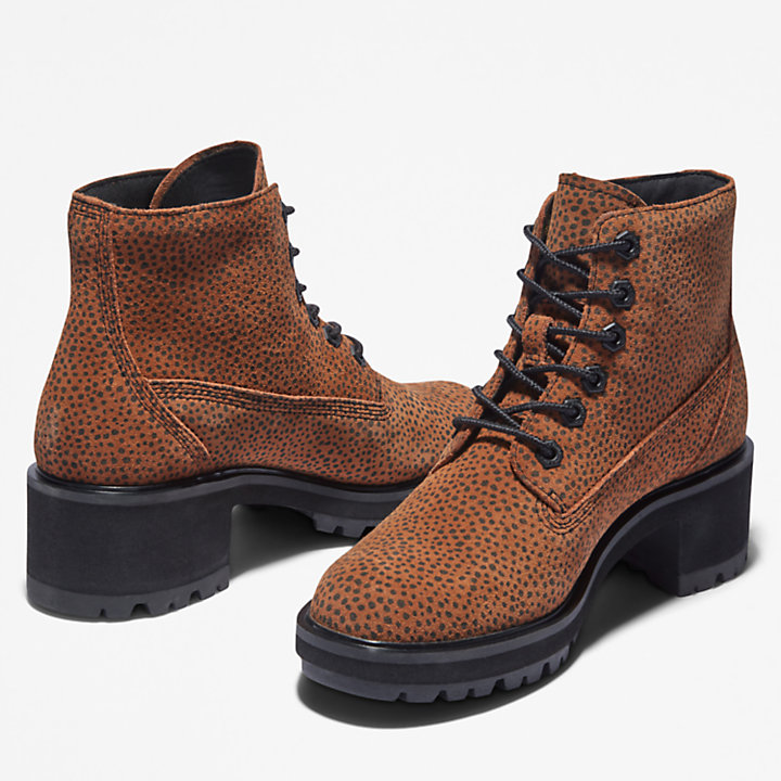 Kori Park 6 Inch Lace-Up Boot for Women in Animalier Print-