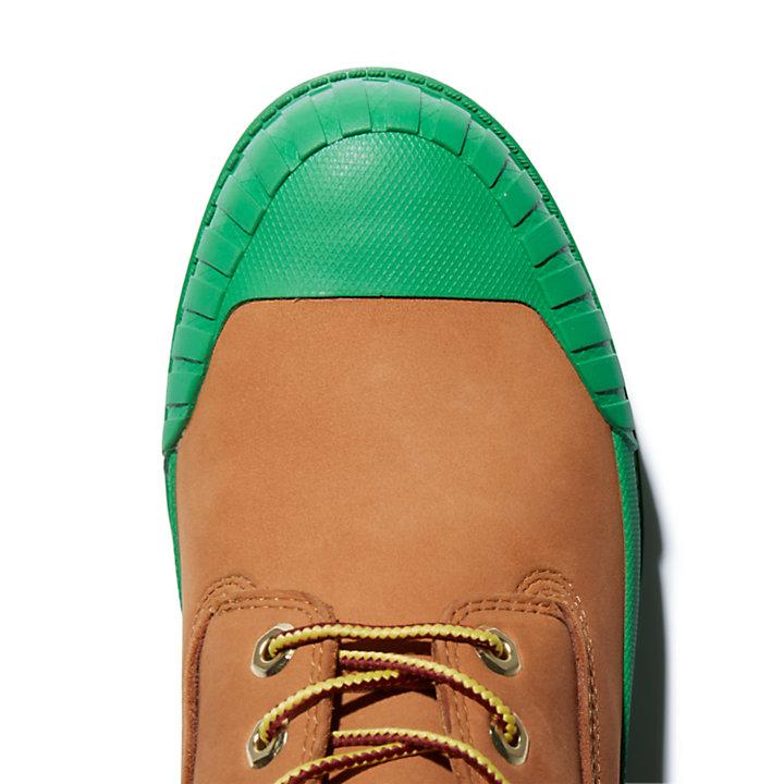 Beeline x Timberland® 6 Inch Rubber Toe Boot voor heren in geel/donkergroen-