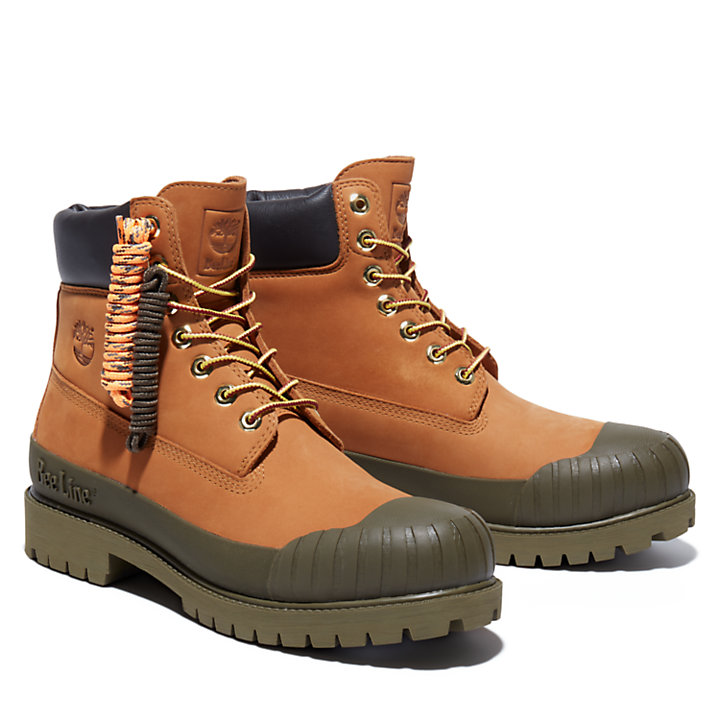Beeline x Timberland® 6 Inch Rubber Toe Boot for Men in Yellow/Green-