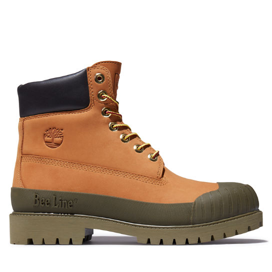Beeline x Timberland® 6 Inch Rubber Toe Boot for Men in Yellow/Green | Timberland