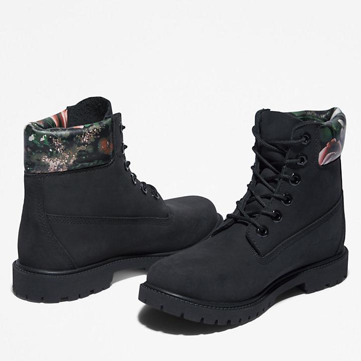 Stivale da Donna Timberland® Heritage 6 Inch in colore nero/motivo floreale-