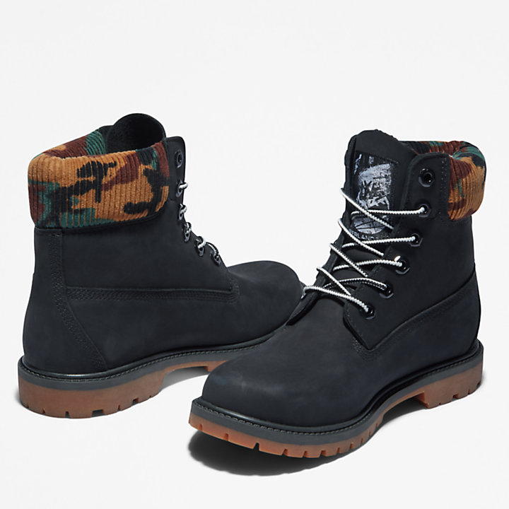 Timberland® Heritage 6 Inch Boot for Women in Black/Camo-