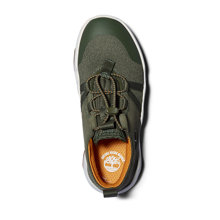 Zapatilla Earth Rally para niño (de 35,5 a 40) en verde-