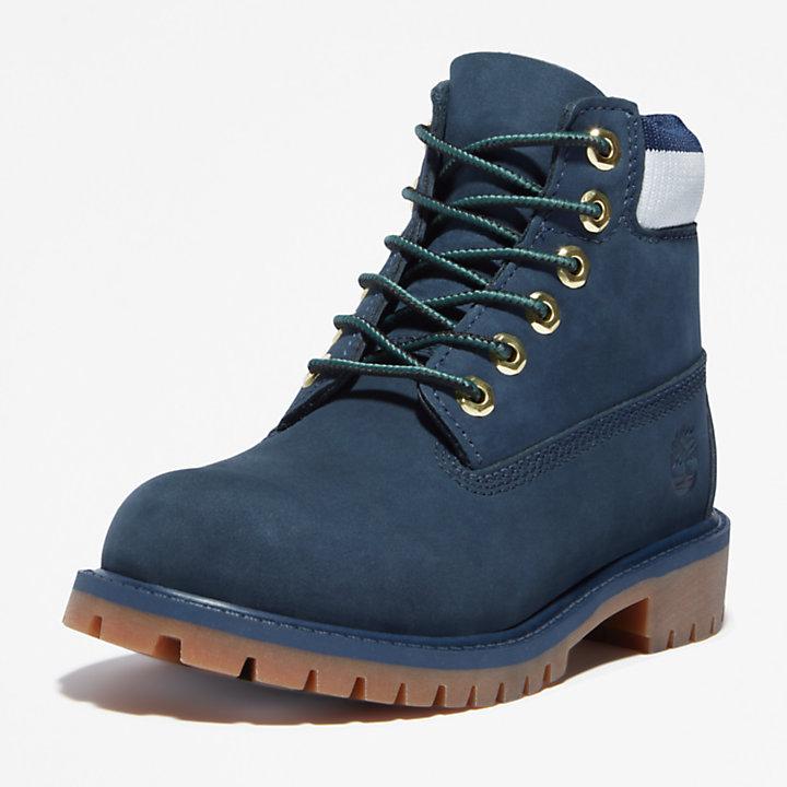Timberland® Premium 6-Inch-Stiefel für Kinder in Navyblau-