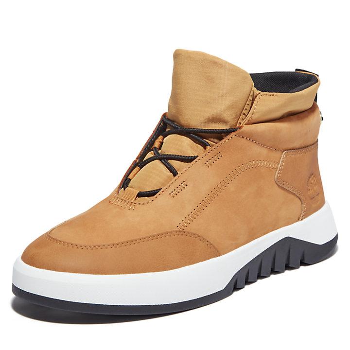 Supaway Leather chukka voor heren in geel-