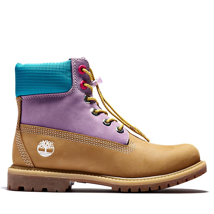 6-inch Boot Premium pour femme en jaune/lilas-