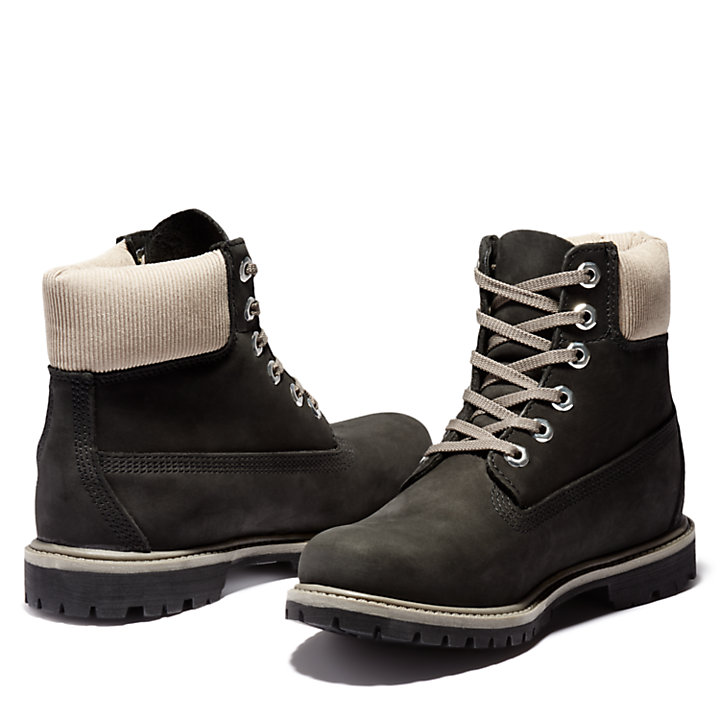 Premium 6 Inch Boot for Women in Black/Grey-