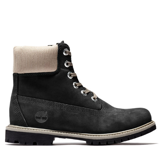 Premium 6 Inch Boot for Women in Black/Grey | Timberland