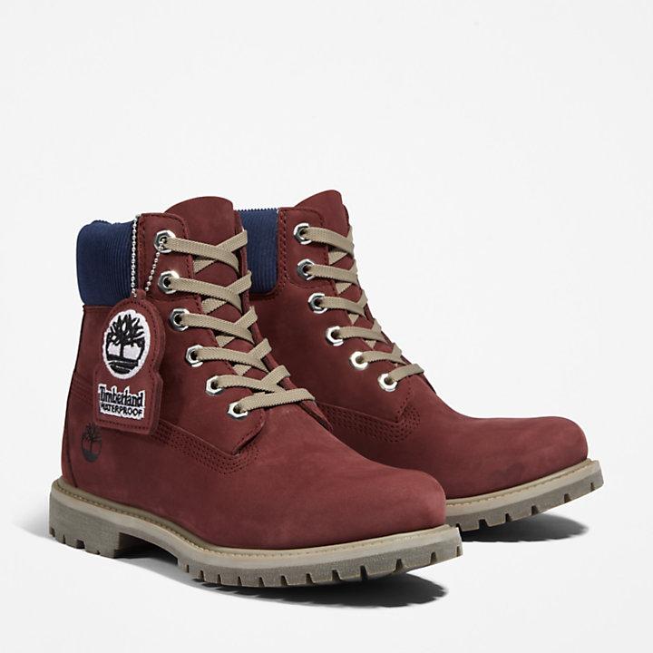 Premium 6 Inch Boot for Women in Burgundy-