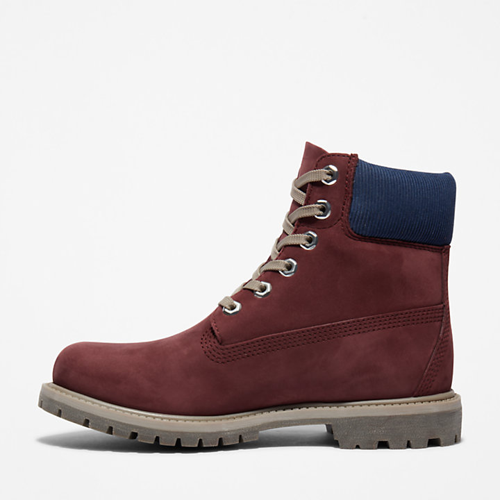 6-inch Boot Premium pour femme en bordeaux-