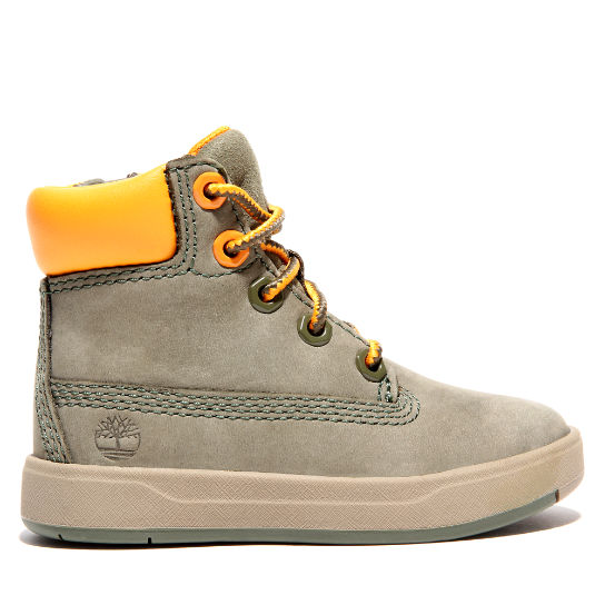 Davis Square High-Top Sneaker for Toddler in Green | Timberland