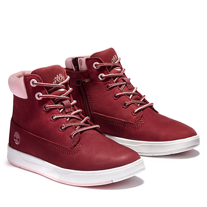 6-Inch Boot Davis Square junior en rose-