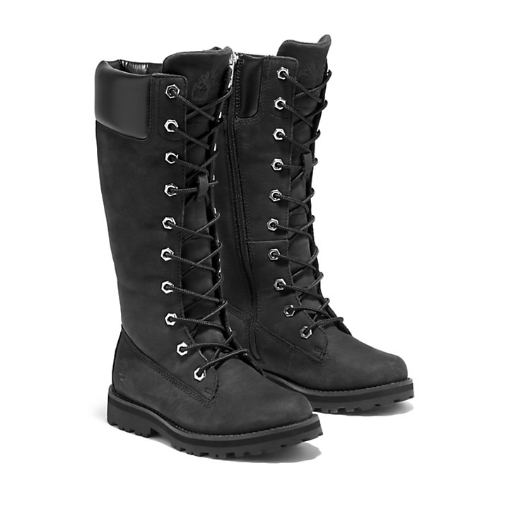 Courma Kid Tall Zip Boot for Junior in Black-