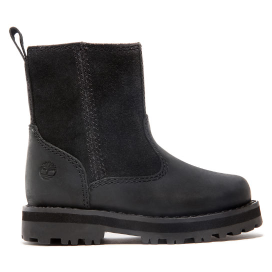 Courma Kid Warm Boot for Toddler in Black | Timberland
