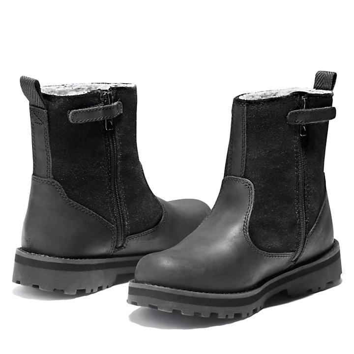 Courma Kid Lined Boot for Junior in Black-