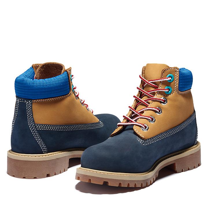 6-Inch Boot Premium pour enfant en bleu marine-