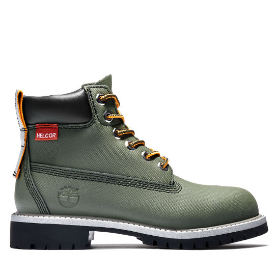 Premium 6 Inch Boot for Youth in Green | Timberland