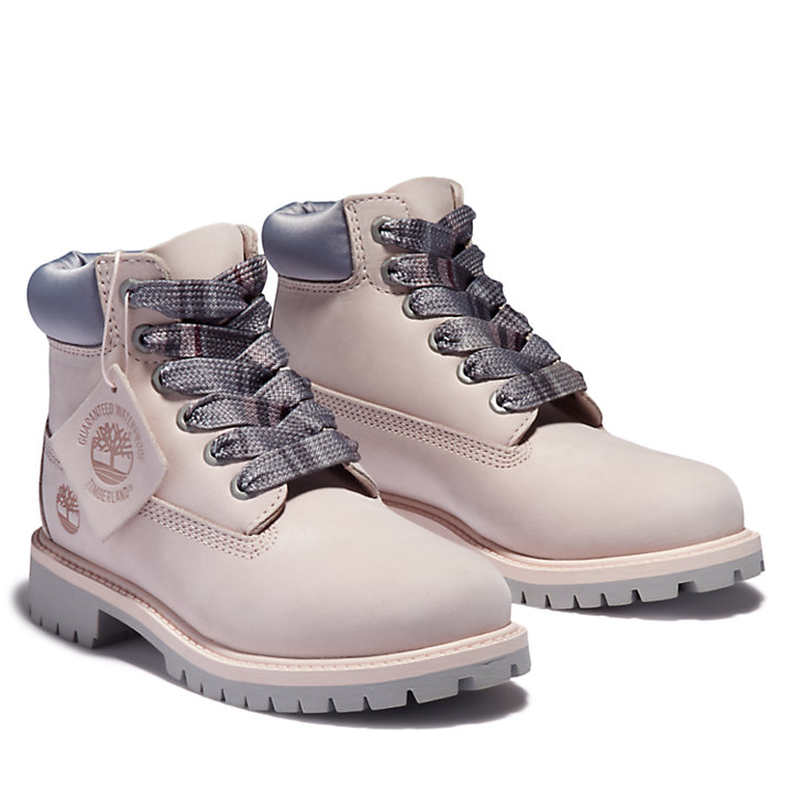 Premium 6 Inch Boot for Youth in Light Pink-