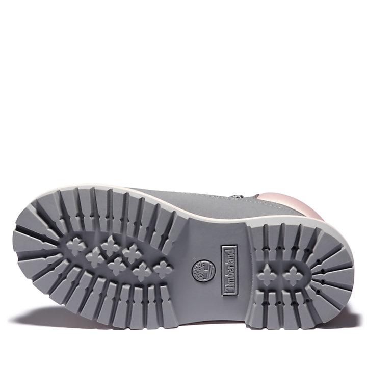 Bota 6 inch Premium para Niño (de 30,5 a 35) en gris-
