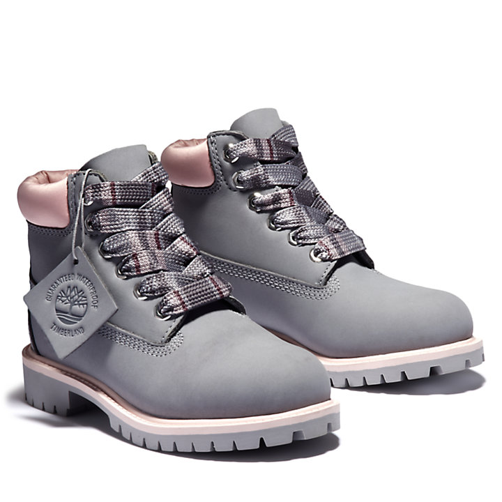 Premium 6 Inch Boot for Youth in Grey-