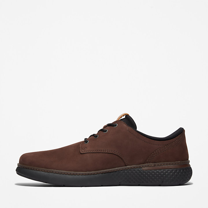 Cross Mark Oxford for Men Dark Brown-