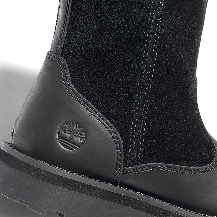 Courma Kid Lined Boot for Youth in Black-