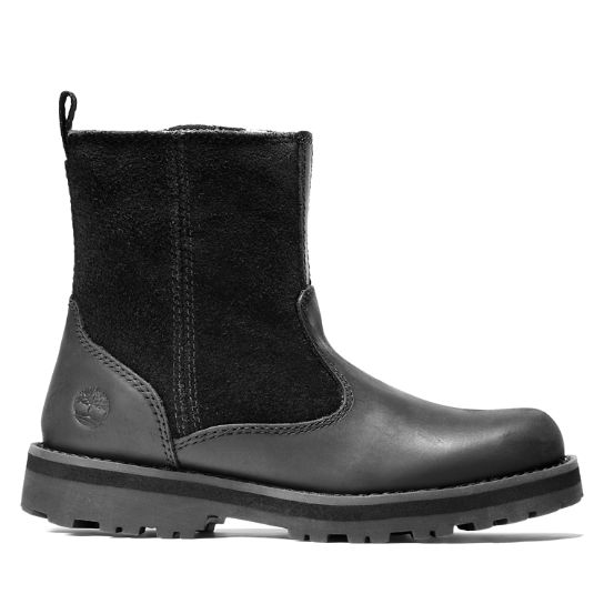 Courma Kid Lined Boot for Youth in Black | Timberland