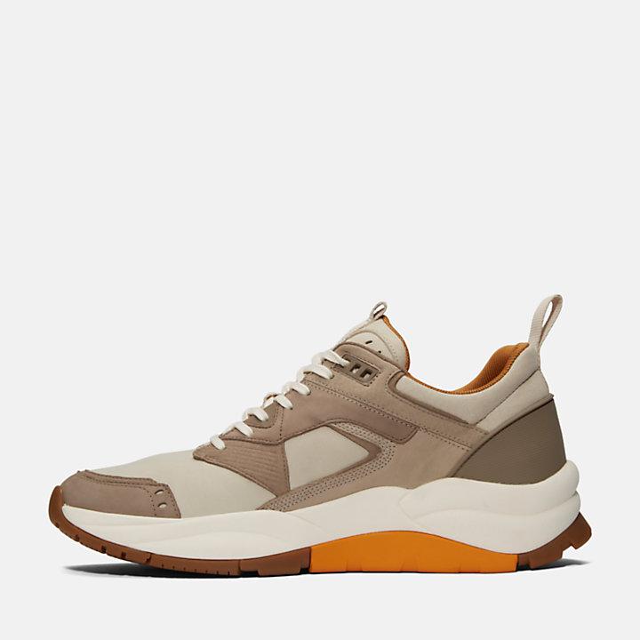 Basket en cuir Tree Racer pour homme en beige-