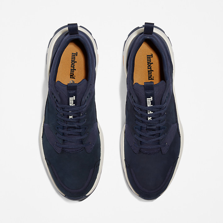 Tree Racer Leather Sneaker for Men in Navy-