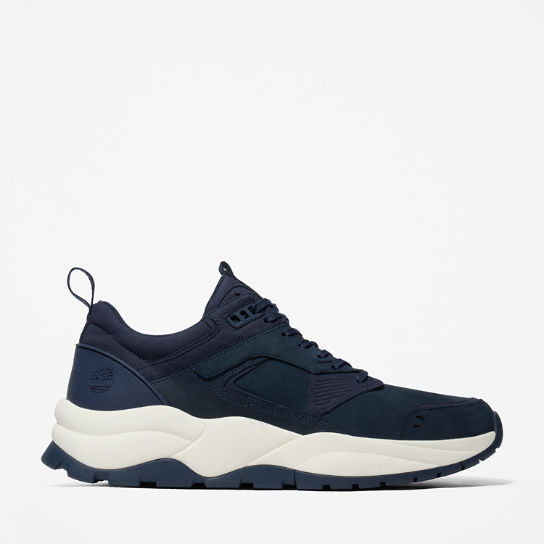 Tree Racer Leather Sneaker for Men in Navy | Timberland
