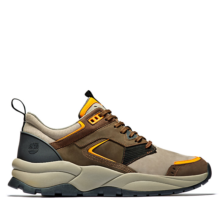 Sneaker in Pelle da Uomo Tree Racer in marrone scuro-
