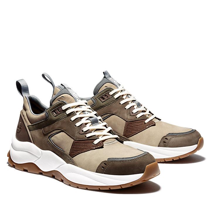Tree Racer Ledersneaker für Herren in Greige-